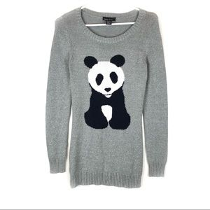 Sweater Project Shimmer Knit Panda Bear Sweater.